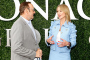 Actor Kevin Spacey and Chairman and President of The Stronach Group Belinda Stronach on the red carpet at The Stronach Group Owner's Chalet at 142nd Preakness Stakes at Pimlico Race Course on May 20, 2017 in Baltimore, Maryland.