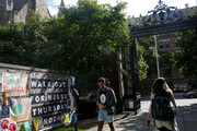 Students walk through Yale University on the day of the Senate hearing with Supreme Court Nominee Brett Kavanaugh and Dr. Christine Blasey Ford, on September 27, 2018 in New Haven, Connecticut. Ford, a professor at Palo Alto University and a research psychologist at the Stanford University School of Medicine, has accused Kavanaugh of sexually assaulting her during a party in 1982 when they were high school students in suburban Maryland.