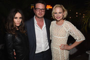 (L-R) Actress Abigail Spencer, actor Aden Young and actress Adelaide Clemens attend the after party for SundanceTV's 'Rectify' Season Two at the Chateau Marmont on June 16, 2014 in Los Angeles, California.