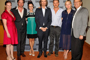 "(L-R)  Melissa Bernstein, Executive Producer of ÒRectify', ActorÊAden Young, ActressÊAbigail Spencer, Marsha Persinger,  Ray McKinnon, Creator/Writer/Executive Producer of ÒRectify', ActorÊClayne Crawford, ActressÊAdelaide ClemensÊand Mark Johnson, Executive Producer of ÒRectify"" attend SundanceTV's presentation of Panel Discussions featuring creators and stars of 'Rectify' and 'The Honorable Woman' on May 16, 2015 in Los Angeles, California."