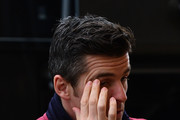 Joey Barton of Burnley steps off the team bus ahead of the Premier League match between Sunderland and Burnley at Stadium of Light on March 18, 2017 in Sunderland, England.
