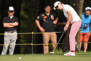 Rikako Morita of Japan putts on the 10th hole during the first round of the Suntory Ladies Open Golf Tournament at the Rokko Kokusai Golf Club on June 7, 2018 in Kobe, Hyogo, Japan.