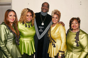 Snoop Dogg (C) with Karen Clark Sheard, Dorinda Clark-Cole, Jacky Clark-Chisholm and Elbernita Clark-Terrell of The Clark Sisters at BET Presents 19th Annual Super Bowl Gospel Celebration at Bethel University on February 1, 2018 in St Paul, Minnesota.