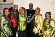 (L-R) Karen Clark Sheard, Lonny Bereal, Dorinda Clark-Cole, Snoop Dogg, Jacky Clark-Chisholm and Elbernita Clark-Terrell at BET Presents 19th Annual Super Bowl Gospel Celebration at Bethel University on February 1, 2018 in St Paul, Minnesota.
