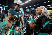 Patrick Robinson #21 of the Philadelphia Eagles  celebrates with his family after defeating the New England Patriots 41-33 in Super Bowl LII at U.S. Bank Stadium on February 4, 2018 in Minneapolis, Minnesota.