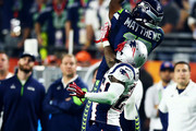 Chris Matthews #13 of the Seattle Seahawks makes a catch against  Kyle Arrington #25 of the New England Patriots in the third quarter during Super Bowl XLIX at University of Phoenix Stadium on February 1, 2015 in Glendale, Arizona.