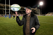 Celebrity magician Dynamo plays with a rugby ball prior to the Super Rugby Qualifying Final match between the Crusaders and the Sharks at AMI Stadium on July 21, 2018 in Christchurch, New Zealand.