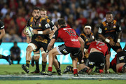 Liam Messam of the Chiefs runs the ball during the round 13 Super Rugby match between the Chiefs and the Crusaders at ANZ Stadium on May 19, 2017 in Suva, Fiji.