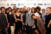 (L-R) Nicolas Ouchenir, Naomi Nevitt, Aslaug Magnusdottir, Sam Spector, Bibhu Mohapatra, Olivia Culpo, Ildo Damiano, Mary Alice Stephenson, Buxton Midyette, David Yi, Fern Mallis, Carmen Lilly, Catherine Baba, and Jessica Michault pose backstage at the Supima Design Competition fashion show during Spring 2016 New York Fashion Week: The Shows at The Gallery, Skylight at Clarkson Sq on September 10, 2015 in New York City.