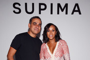 Designer Bibhu Mohapatra and celebrity stylist June Ambrose attend Supima Design Competition SS18 runway show during New York Fashion Week at Pier 59 on September 7, 2017 in New York City.