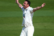Christopher Wood of Hampshire appeals unsuccessfully during day one of the Division One Specsavers County Championship match between Surrey and Hampshire at The Kia Oval on April 20, 2018 in London, England.