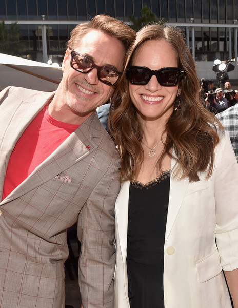 """Marvel Studios' """"Avengers: Endgame"""" Stars Place Handprints In Cement At TCL Chinese Theatre [eyewear,sunglasses,glasses,fashion,outerwear,lip,vision care,suit,event,blazer,robert downey jr,susan downey,avengers: endgame stars place handprints in cement,avengers: endgame,tcl chinese theatre,california,hollywood,marvel studios,hand and footprint ceremony]"""
