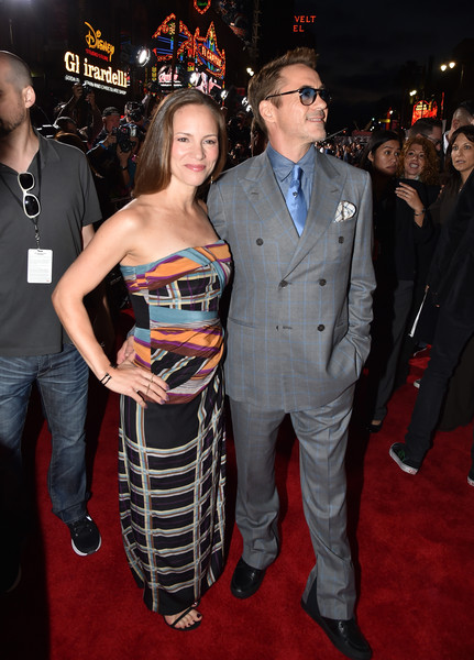 Premiere Of Marvel's 'Avengers: Age Of Ultron' - Red Carpet [avengers: age of ultron,red carpet,red carpet,carpet,premiere,event,fashion,dress,flooring,suit,strapless dress,fictional character,robert downey jr.,susan downey,dolby theatre,california,hollywood,marvel,l,premiere]