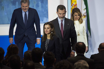 Susana Diaz Spanish Royals Deliver the Golden Medals to the Merit in Fine Arts 2016