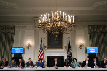 Susana Martinez President Trump Unveils His Infrastructure Initiative With State and Local Officials
