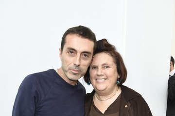 Suzy Menkes Backstage at Moncler Gamme Rouge