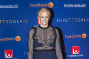 Carolina Klüft poses for a picture on the red carpet before attending the 2017 Sweden Sports Gala held at the Ericsson Globe Arena on January 16, 2017 in Stockholm, Sweden.