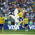 Yong Lee Emil Forsberg Photos - Yong Lee and Ki Sung-Yueng of Korea Republic battle for the header with Emil Forsberg of Sweden during the 2018 FIFA World Cup Russia group F match between Sweden and Korea Republic at Nizhniy Novgorod Stadium on June 18, 2018 in Nizhniy Novgorod, Russia. - Sweden Vs. Korea Republic: Group F - 2018 FIFA World Cup Russia