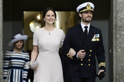 Sweden's Princess Sofia and Prince Carl Philip arrive for the Te Deum thanksgiving service in the Royal Chapel during King Carl XVI Gustaf of Sweden's 70th birthday celebrations in Stockholm, Sweden, April 30, 2016. .. / AFP / TT NEWS AGENCY AND TT News Agency / Maja Suslin/TT / Sweden OUT
