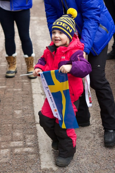 Princess Estelle of Sweden attends the FIS Nordic World Ski Championships on February 27, 2015 in Falun, Sweden.