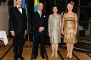 Estonian President Toomas Hendrik Ilves, King Carl XVI Gustaf of Sweden, Queen Silvia of Sweden and Estonian First Lady Evelin Ilves attend a reception held at Operaterrassen on the second day of the Estonian state visit on January 19, 2011 in Stockholm, Sweden.