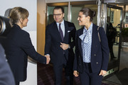 Crown Princess Victoria of Sweden and Prince Daniel of Sweden visit the Crime Prevention Council on November 14, 2019 in Stockholm, Sweden.