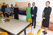 Crown Princess Victoria and Prince Daniel of Sweden visit the artist organization wip:sthlm on August 26, 2020 in Stockholm, Sweden. Wip:sthlm aims to create an organization where a large group of artists can collaborate for the best possible workspaces as well as exchange of ideas.