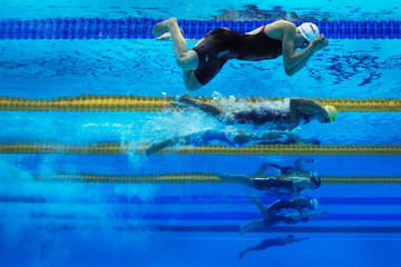 Amanda Beard Rebecca Soni Swimming Day Ten - 14th FINA World Championships