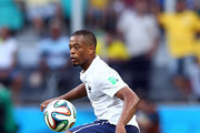 Patrice Evra of France controls the ball during the 2014 FIFA World Cup Brazil Group E match between Switzerland and France at Arena Fonte Nova on June 20, 2014 in Salvador, Brazil.