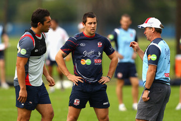 Braith Anasta Brian Smith Sydney Roosters Training Session