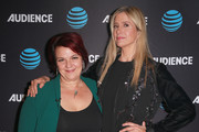 Katherine Tulich (L) and Mira Sorvino attend an FYC Conversation hosted by AT&T Audience at The Paley Center for Media on October 8, 2018 in Beverly Hills, California.