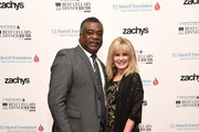 Eddie Murray and CEO, T.J. Martell Foundation, Laura Heatherly  on November 15, 2018 in New York City.