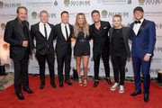 (L-R) Kix Brooks, Ryan White, Carly Pearce, Michael Ray, Hunter Hayes and Cole Swindell attend The T.J. Martell Foundation Nashville Best Cellars 2019 at the Loews Vanderbilt Hotel on April 22, 2019 in Nashville, Tennessee.