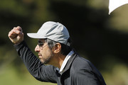 Actor Ray Romano reacts after a putt on the second green during the 3M Celebrity Challenge prior to the AT&T Pebble Beach Pro-Am at Pebble Beach Golf Links on February 05, 2020 in Pebble Beach, California.