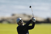Actor Ray Romano plays a shot on the 18th hole during the 3M Celebrity Challenge prior to the AT&T Pebble Beach Pro-Am at Pebble Beach Golf Links on February 05, 2020 in Pebble Beach, California.