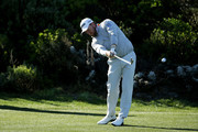 Graeme McDowell of Northern Ireland plays a shot during the third round of the AT&T Pebble Beach Pro-Am at Spyglass Hill Golf Course on February 09, 2019 in Pebble Beach, California.