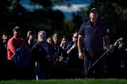 Phil Mickelson of the United States looks on during the third round of the AT&T Pebble Beach Pro-Am at Pebble Beach Golf Links on February 09, 2019 in Pebble Beach, California.