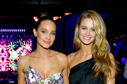 Hannah Jeter and Kate Bock attend AT&T TV Super Saturday Night at Meridian at Island Gardens on February 01, 2020 in Miami, Florida.