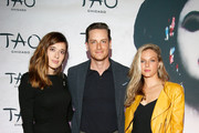 (L-R) Marina Squerciati, Jesse Lee Soffer, and Tracy Spiridakos attend the TAO Chicago Grand Opening Celebration at TAO Chicago on September 15, 2018 in Chicago, Illinois.