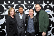 (L-R) Nancy Duffy, Hill Harper, B.D. Wong, and Donnie Wahlberg pose in the green room during the TCA Turner Winter Press Tour 2019 at The Langham Huntington Hotel and Spa on February 11, 2019 in Pasadena, California. 505702