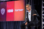 President of TBS & TNT and Chief Creative Officer of Turner Entertainment Kevin Reilly speaks onstage during the TBS & TNT Executive Panel at the TCA Turner Winter Press Tour 2019 Presentation at The Langham Huntington Hotel and Spa on February 11, 2019 in Pasadena, California. 510169