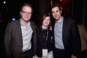 (L-R) Director Tom McCarthy, TCM Classic Film Festival Director Genevieve McGillicuddy and producer Serge Bromberg attend the TCM Classic Film Festival 2016 Opening Night After Party on April 28, 2016 in Los Angeles, California. 25826_006