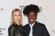 Mickey Sumner (L) and Adepero Oduye attends the TFF Awards Night during the 2014 Tribeca Film Festival at Conrad New York on April 24, 2014 in New York City.