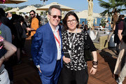 Thom Powers and Giovanna Fulvi attend the TIFF & OMDC cocktail event at the Cannes Film Festival on May 11, 2018 in Cannes, France.