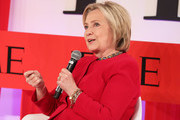 Hillary Clinton participates in a panel discussion during the TIME 100 Summit 2019 on April 23, 2019 in New York City.