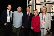(L-R) Dan Macsai, Jose Andres, Kai-Fu Lee, Hillary Clinton, and Martha Stewart attend the TIME 100 Summit 2019 on April 23, 2019 in New York City.