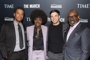(L-R) Kaylon Hunt, Viola Davis, Josh Nelson, and Julius Tennon attend the TIME Launch Event for The March VR Exhibit at the DuSable Museum on February 26, 2020 in Chicago, Illinois.