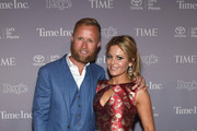 Valeri Bure (L) and Candace Cameron-Bure attend TIME and People's Annual White House Correspondents' Association Cocktail Party at St Regis Hotel on April 29, 2016 in Washington, DC.