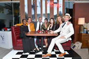 """(L-R) Golden Brooks, Chris Pine, Sam Sheridan, Patty Jenkins, India Eisley, Connie Nielsen and Jefferson Mays attend TNT's """"I Am The Night"""" FYC Event on May 9, 2019 in North Hollywood, California."""