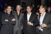 Actors Milo Ventimiglia, Neal McDonough, President, Head of Programming for TNT, TBS and Turner Classic Movies Michael Wright and Robert Knepper attend TNT's 'Mob City' Screening after party at Emerson Theatre on November 21, 2013 in Hollywood, California.